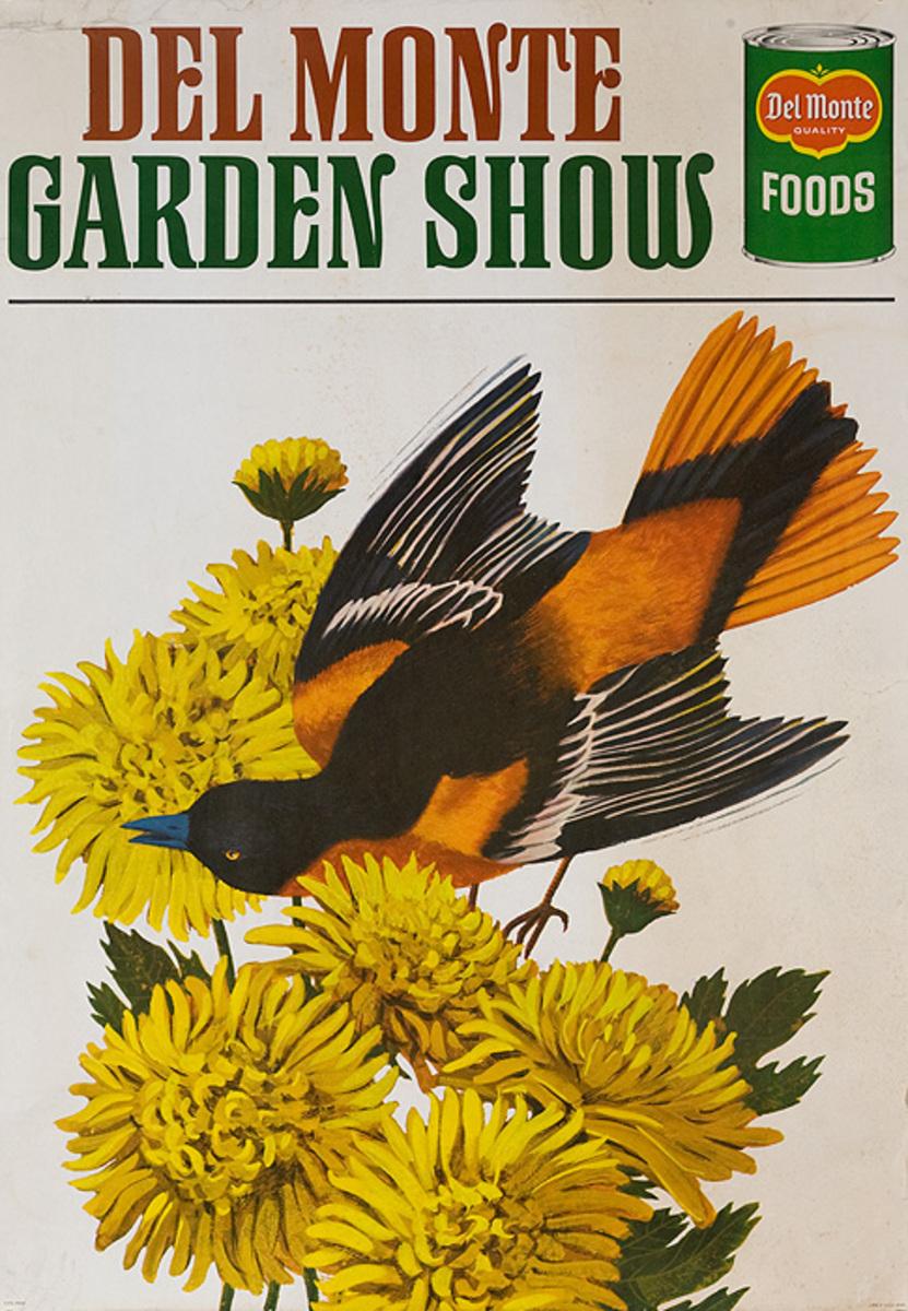 Del Monte Garden Show Original American Advertising Poster bird