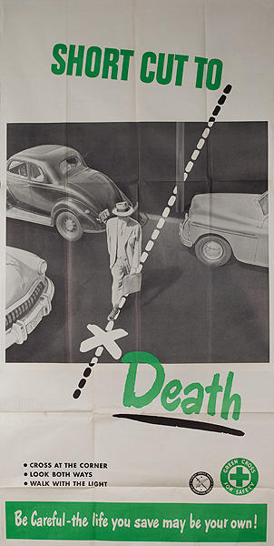 Short Cut to Death Original American Traffic Safety Poster