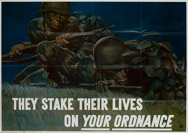 They Stake Their Lives on YOUR Ordnance Original American WWI Poster
