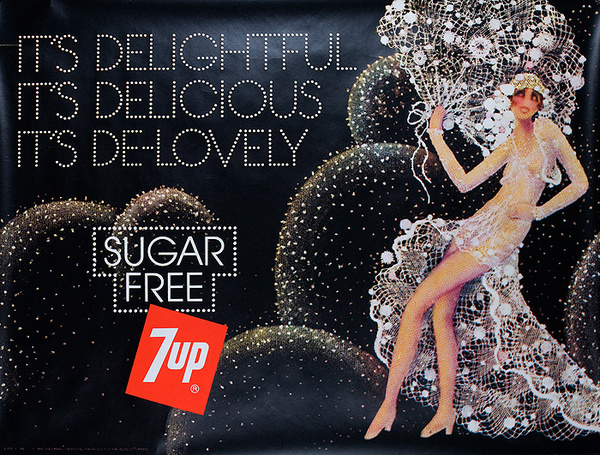 It's Delightful Original Sugar Free 7 Up Advertising Poster