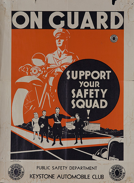 On Guard Support Your Safety Squad Keystone Auto Club Original Civics Poster