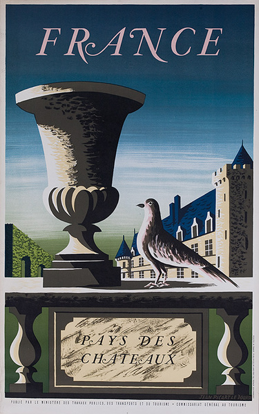 France Country of Chateaus Original French Travel Poster
