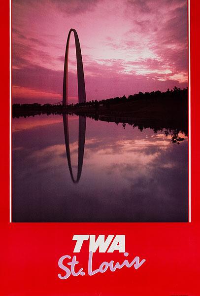 TWA Original Travel Poster St. Louis Arch photo