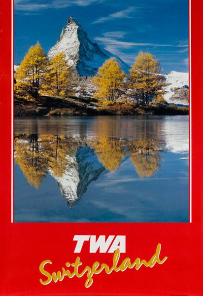 TWA Original Travel Poster Matterhorn photo