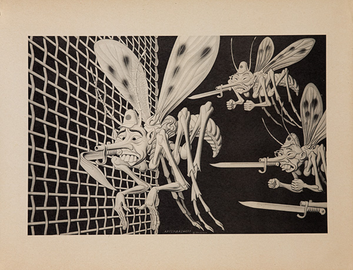 Wickwire Steel Original WWII Poster Mosquito Axis