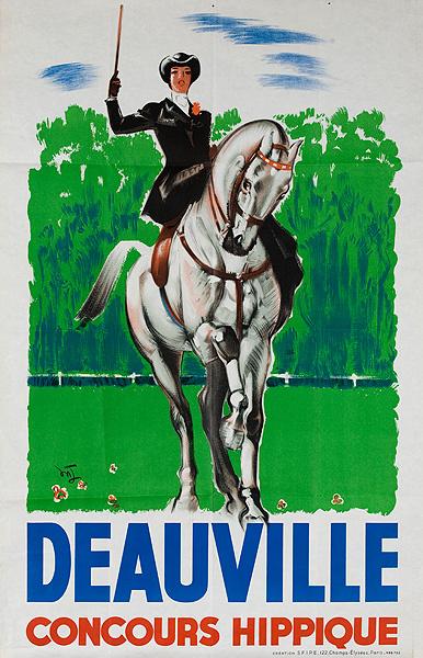 Deauville Concours Hippique Original French Travel Poster