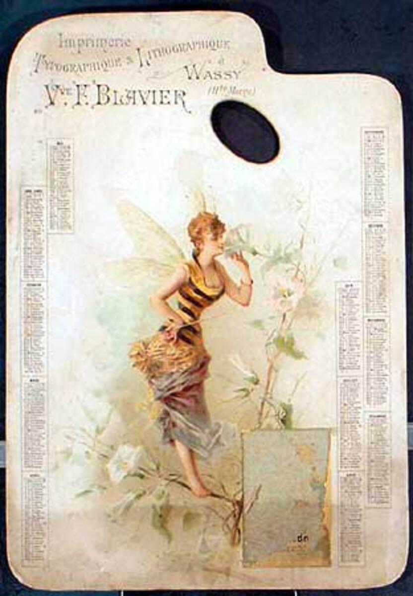 1895 Art Nouveau Printers Sample Original Vintage Poster