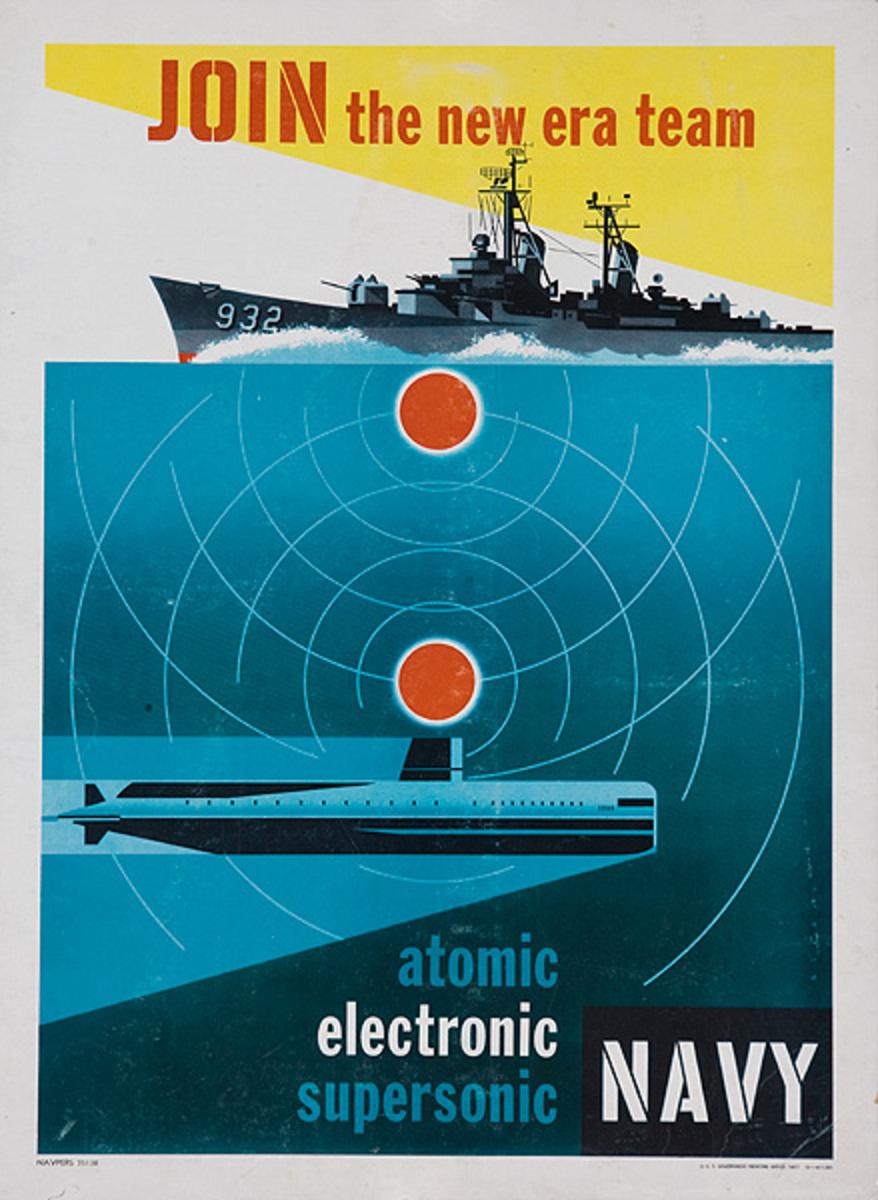 Join the New Era Team Original Korean War NAVY Recruiting Poster