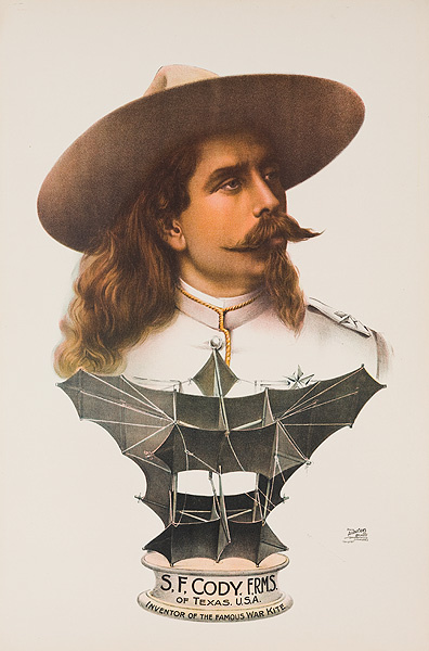 S.F. Cody FRMS Of Texas USA Inventor of the Famous War Kite Original Poster
