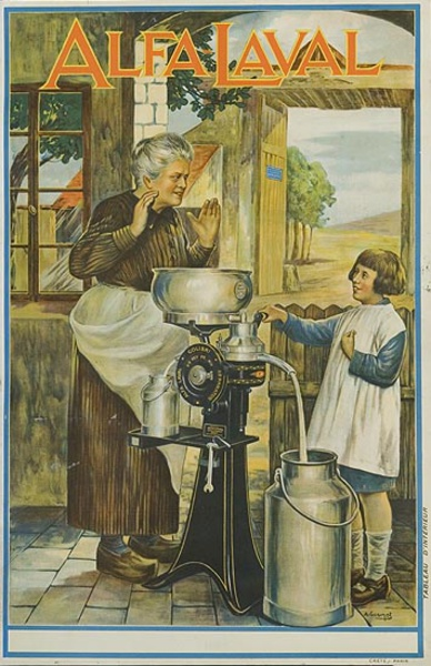 Alfa Laval Grandmother  Original Vintage Advertising Poster