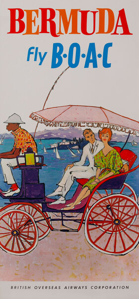 Bermuda Fly B.O.A.C Couple in Carriage