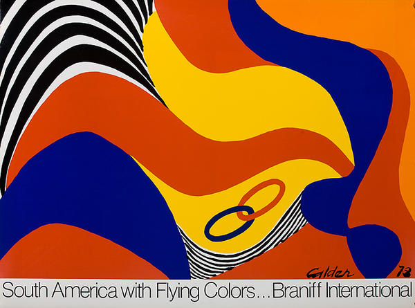South America With Flying Colors Original Braniff International Poster