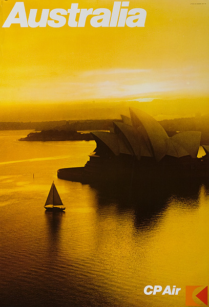 CP Air Australia Sydney Opera House Travel Poster