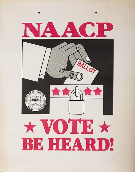 NAACP VOTE BE HEARD Original American Political Poster