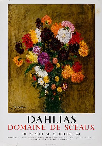 Dahlias Domaine de Sceaux Original French Flower Show Poster