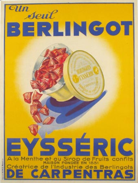 Berlingot Candy Original Vintage French Advertising Poster