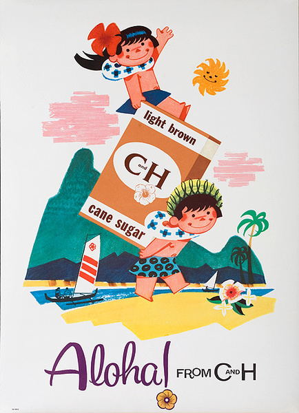 Original Aloha From C&H Advertising Poster Light Brown Sugar