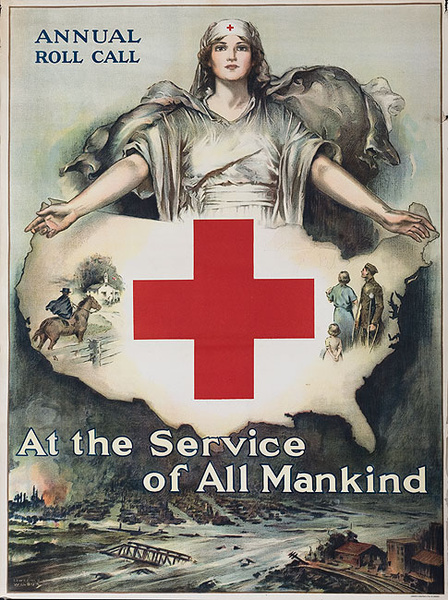 At the Service of All Mankind Original WWI American Poster
