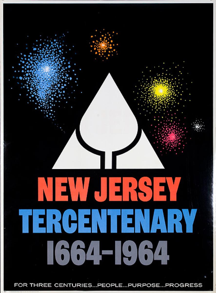 New Jersey Tercentenary 1664-1964 Original Poster
