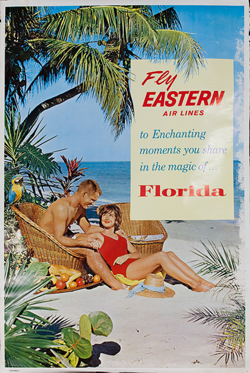 Fly Eastern Airlines Florida Original Travel Poster