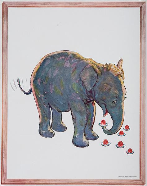 Original Jello Advertising Poster Elephant