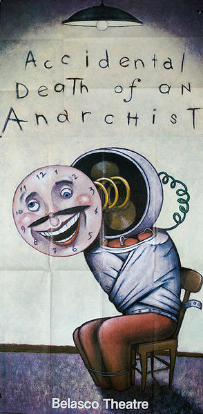 Accidental Death of an Anarchist Original American Theater Poster