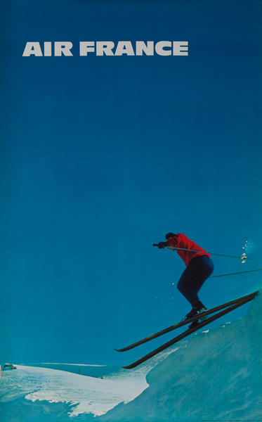 Air France Original Travel Poster Skier Photo