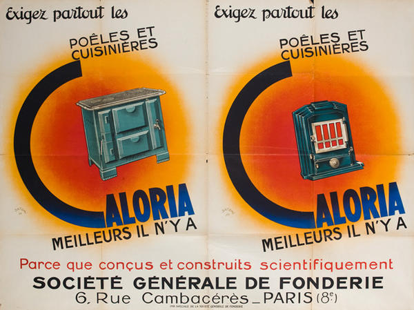 Caloria Stoves Original French Advertising Poster