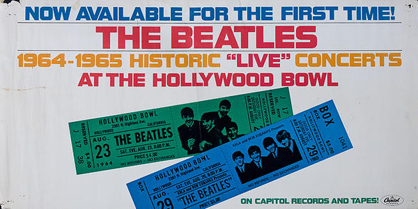 Now Available for the First Time The Beatles Live at the Hollywood Bowl Original ALbum Advertising Poster