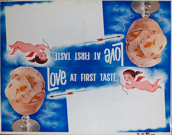 Love At First Taste, 1950s Ice Cream Advertising Poster