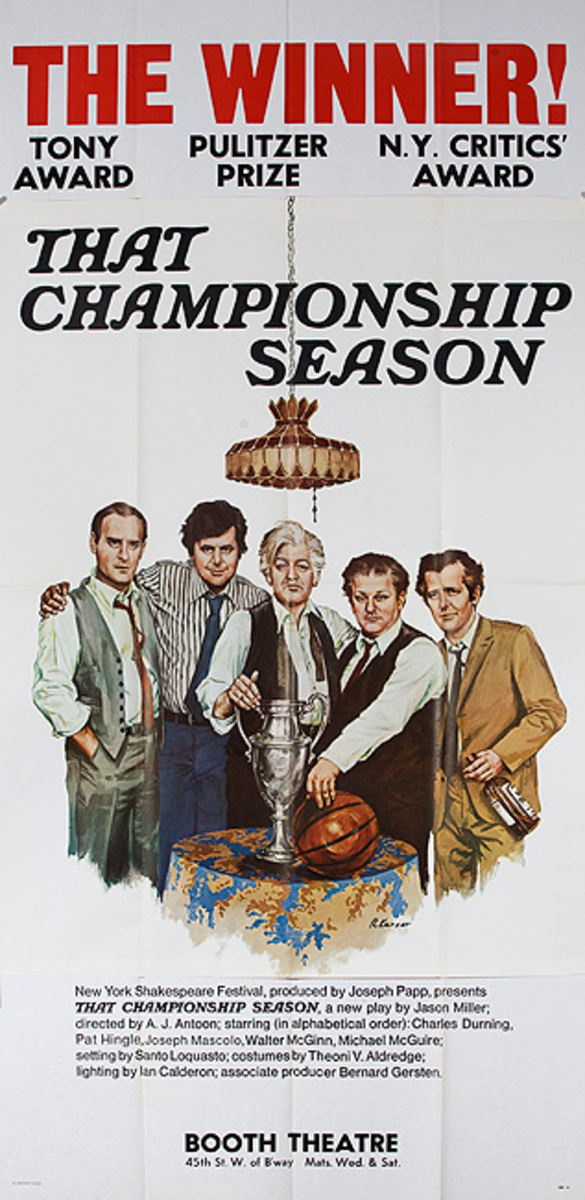 That Championship Season Original American Theater Poster Booth Theater