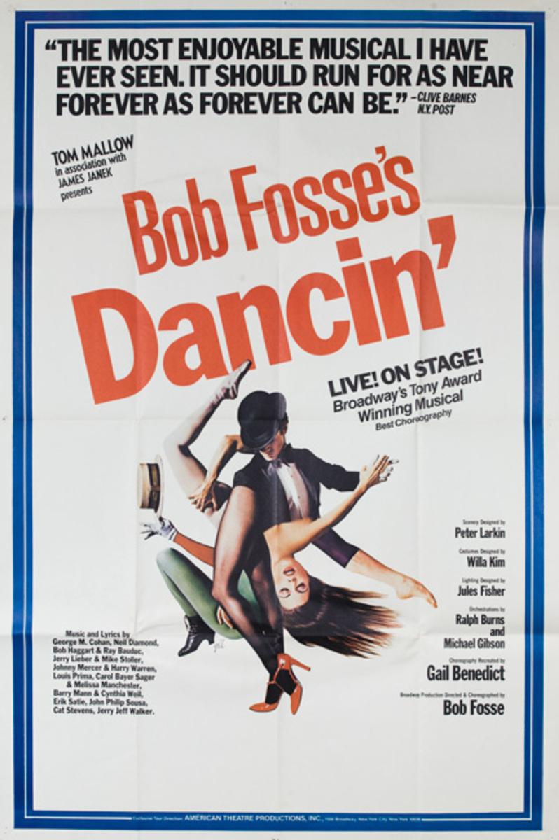 Bob Fosse's Dancin' Original American Theater Poster