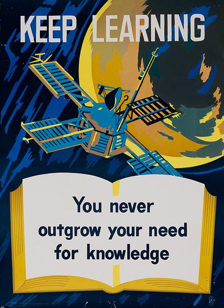 Keep Learning, Original American Education Poster