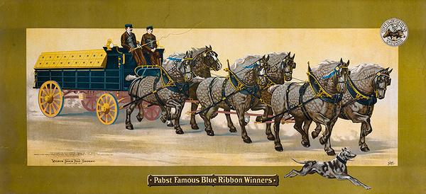Pabst Famous Blue Ribbon Winners Original American Beer Advertising poster