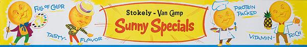 Van Camp Sunny Specials Original American Orange Advertising Poster