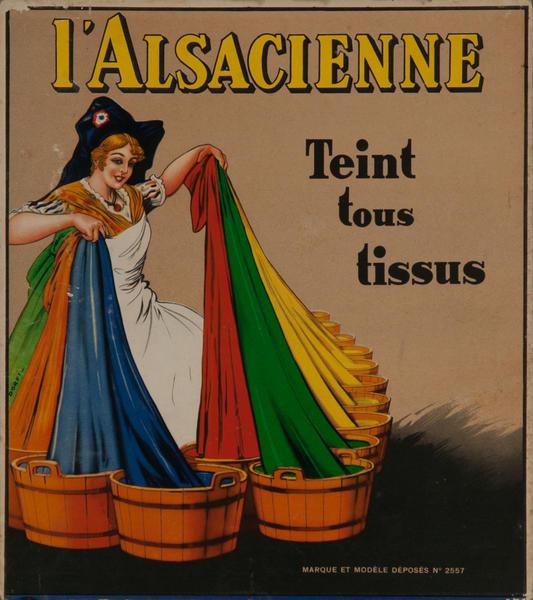 L'Alsacienne Carton Original Vintage Advertising Poster