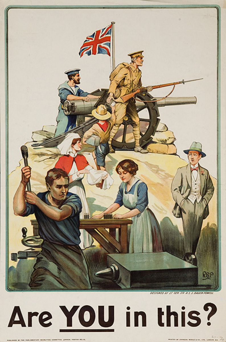 Are You in This Original British WWI Poster