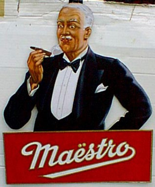 Maestro Carton Original Vintage Advertising Poster