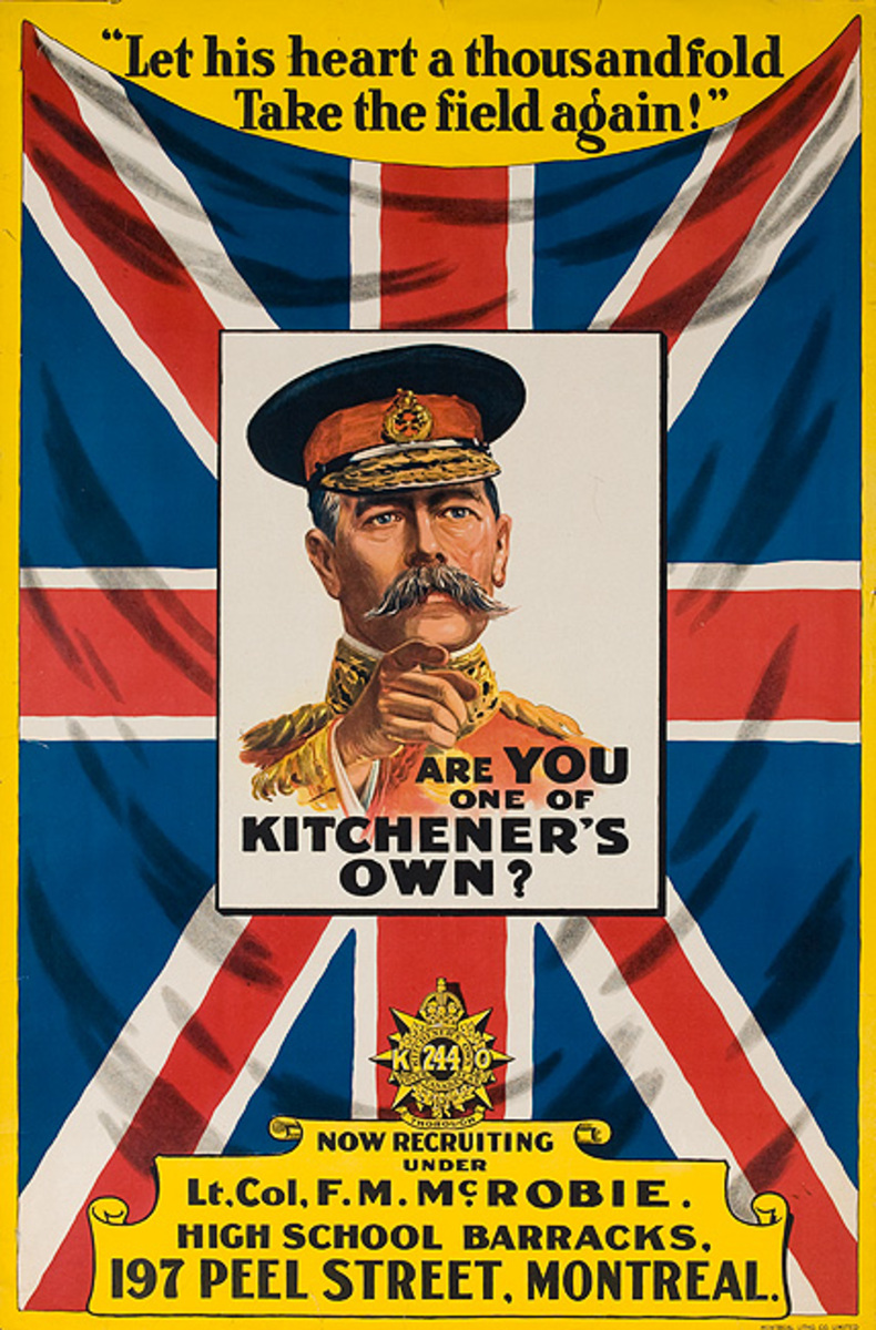 Are You One of Kitchener's Own? Original Canadaian WWI Recruiting Poster