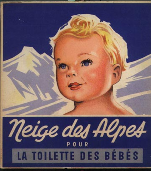 Niege des Alpes Carton Original Vintage Advertising Poster