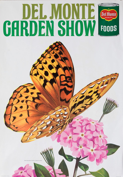 Del Monte Garden Show Original American Advertising Poster Great Spangled Fritillary