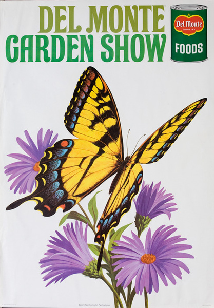 Del Monte Garden Show Original American Advertising Poster  Eastern Tiger Swallowtail Butterfly