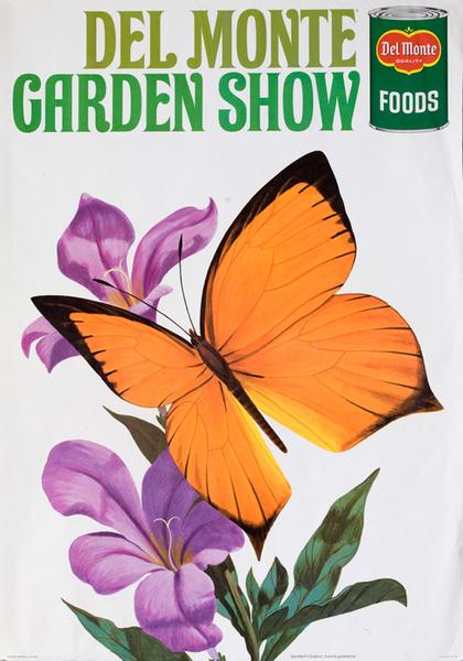 Del Monte Garden Show Original American Advertising Poster Gundlach's Sulfur