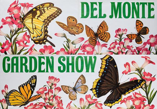 Del Monte Garden Show Original American Advertising Poster miscellaneous butterflies