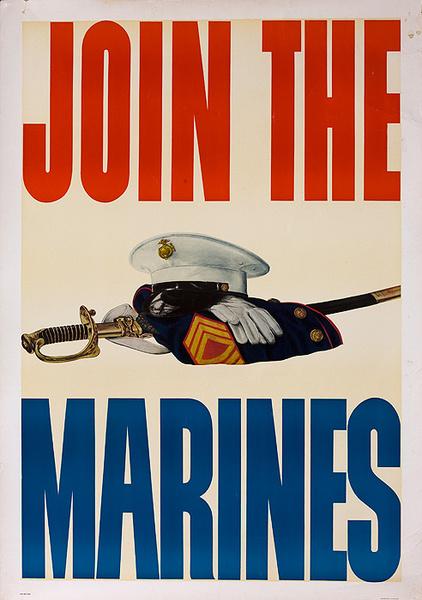 Join the Marines Original Korean War Recruiting Poster
