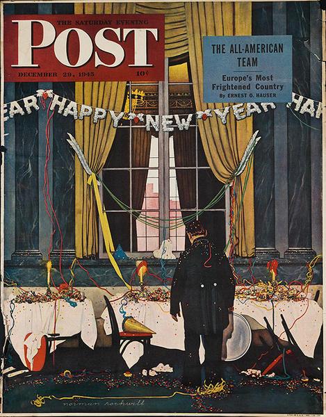 Saturday Evening Post Original Advertising Poster Dec 29, 1945