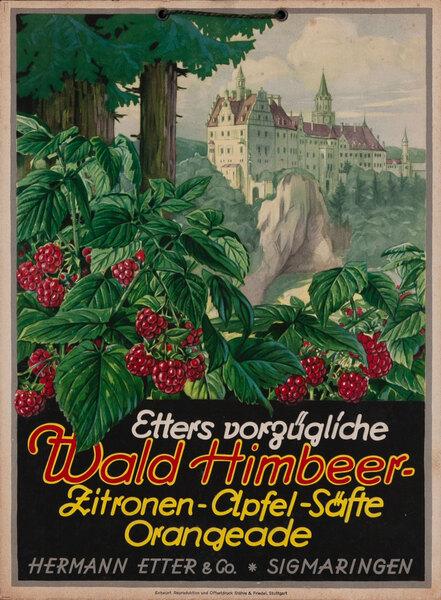 Waldhimbeer  Carton Original Vintage Advertising Poster