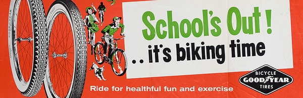 School's Out! Original American 1950s Bicycle Shop Poster