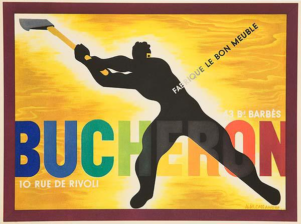 Bucheron Original French Advertising Poster