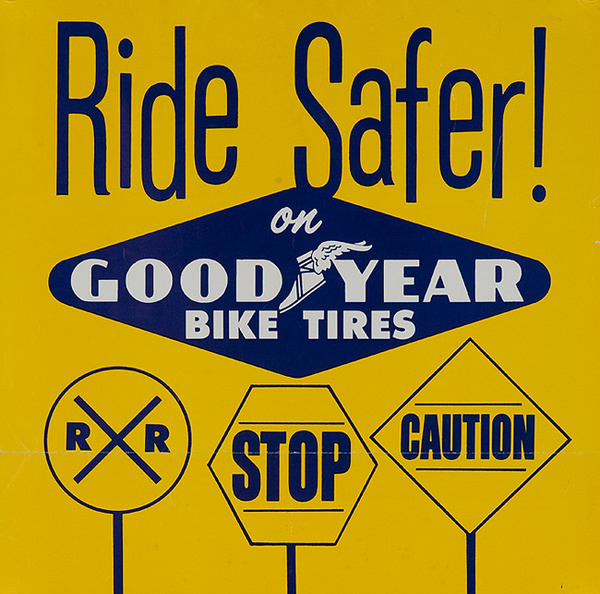 Ride Safer Original American 1950s Bicycle Shop Poster